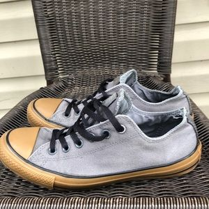 Converse men's gray&gold low cut sneakers